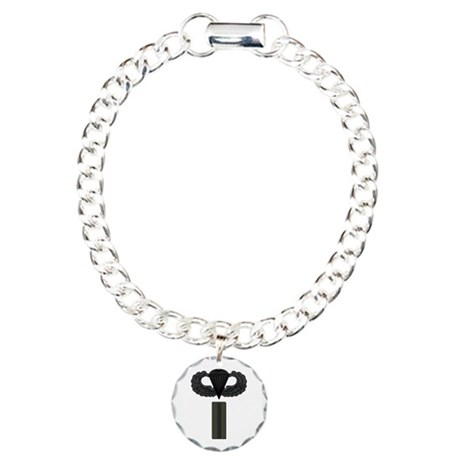 CW5 - Pin-On - Airborne Charm Bracelet, One Charm