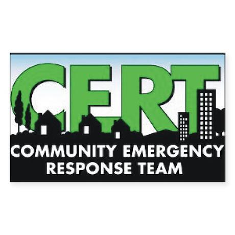 Community Emergency Response Sticker (Rectangular