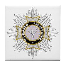 White Falcon Star Tile Coaster