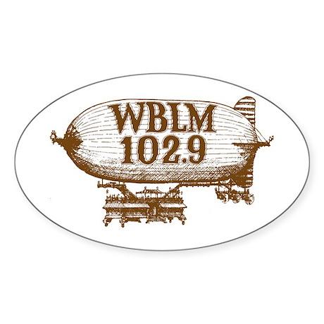 Blimp Oval Sticker