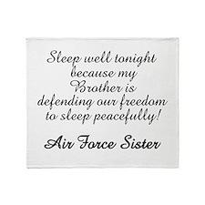 AF Sister Sleep Well Bro Throw Blanket