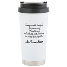 AF Sister Sleep Well Bro Travel Mug