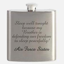 AF Sister Sleep Well Bro Flask
