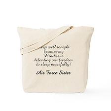 AF Sister Sleep Well Bro Tote Bag