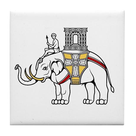 White Elephant (Denmark) Tile Coaster