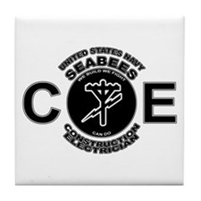 USN Seabees CE Construction Electrician Tile Coast