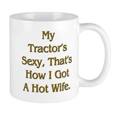 Sexy Tractor Hot Wife Small Mug