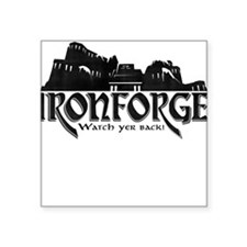 "City of Ironforge Silhouette Square Sticker 3"" x 3"