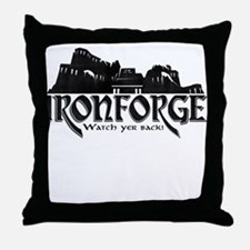 City of Ironforge Silhouette Throw Pillow