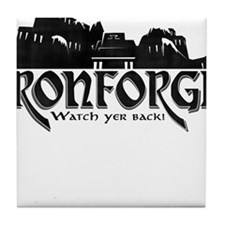 City of Ironforge Silhouette Tile Coaster