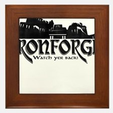 City of Ironforge Silhouette Framed Tile