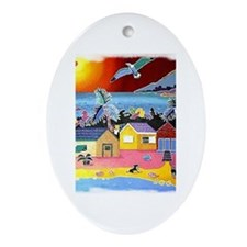 Dwelling Places Oval Ornament