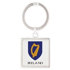Coat of arms of Ireland Square Keychain