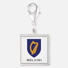 Coat of arms of Ireland Silver Square Charm