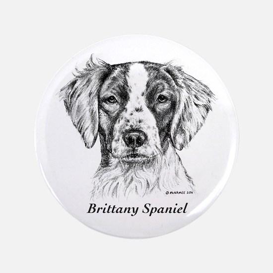 "Brittany Spaniel 3.5"" Button"