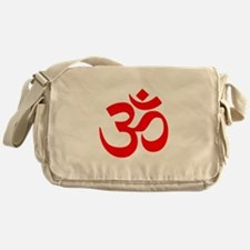 Red Om Messenger Bag