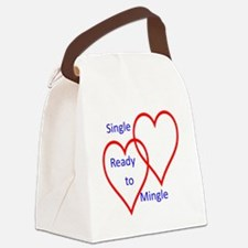 Single ready to mingle Canvas Lunch Bag