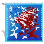 The Butterfly Flag Shower Curtain