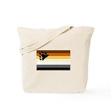 Bear Paw Flag Tote Bag