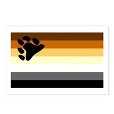 Bear Paw Flag Postcards (Package of 8)