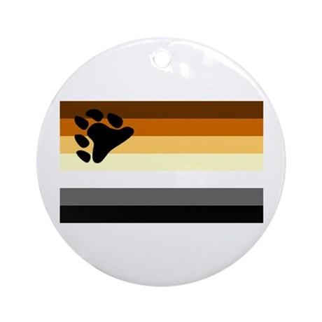 Bear Paw Flag Ornament (Round)