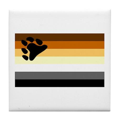 Bear Paw Flag Tile Coaster