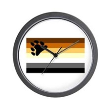 Bear Paw Flag Wall Clock