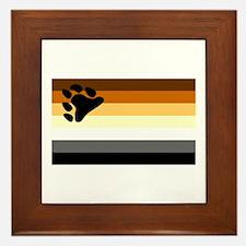 Bear Paw Flag Framed Tile