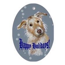 Loveable Mutt Christmas Oval Ornament