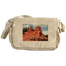 Red Canyon, Utah, USA (caption) Messenger Bag