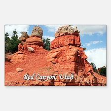 Red Canyon, Utah, USA (caption) Decal