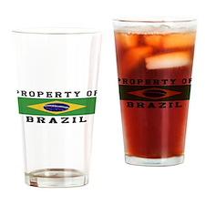 Property Of Brazil Drinking Glass