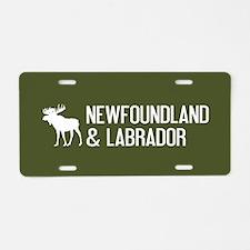 Newfoundland and Labrador M Aluminum License Plate