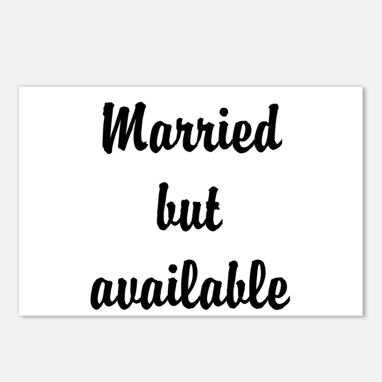 Married but available Postcards (Package of 8)