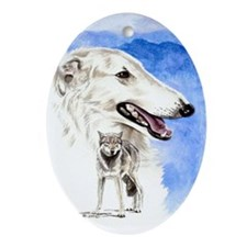 Borzoi Oval Ornament