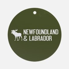 Newfoundland and Labrador Moose Round Ornament