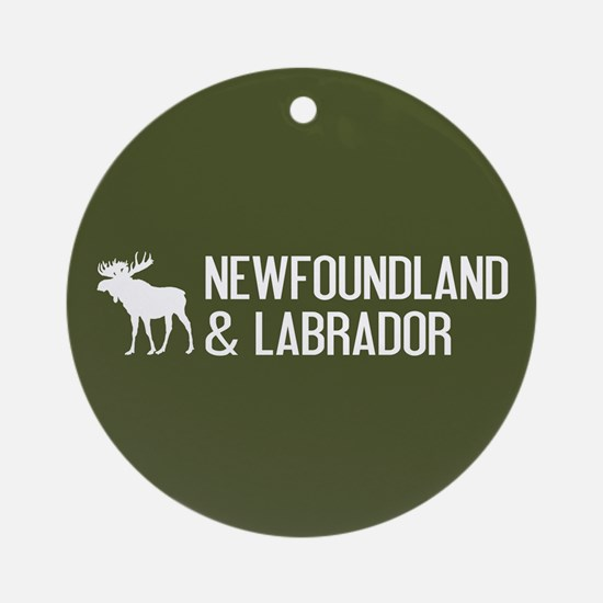 Newfoundland and Labrador Moose Round Ornament