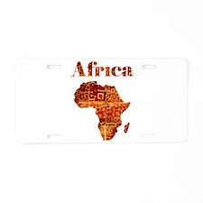 Ethnic Africa Aluminum License Plate