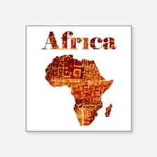 "Ethnic Africa Square Sticker 3"" x 3"""