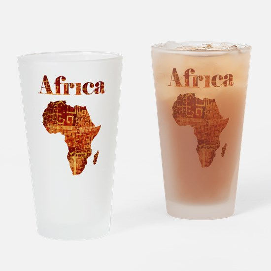 Ethnic Africa Drinking Glass