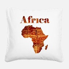Ethnic Africa Square Canvas Pillow
