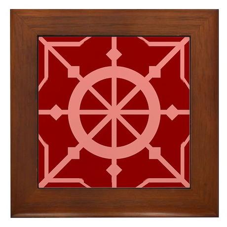 The Wheel of change Framed Tile