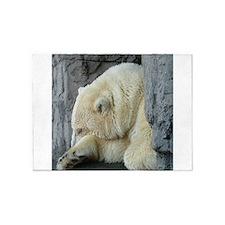 Central Park Zoo Polar Bear 5'x7'Area Rug