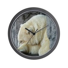 Central Park Zoo Polar Bear Wall Clock
