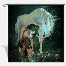 Fairy and Unicorn Magic Shower Curtain
