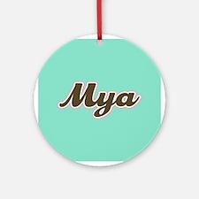 Mya Aqua Ornament (Round)