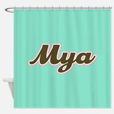 Mya Aqua Shower Curtain