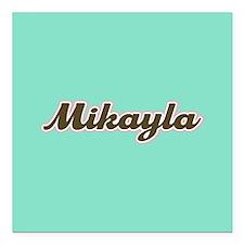 "Mikayla Aqua Square Car Magnet 3"" x 3"""