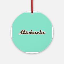 Michaela Aqua Ornament (Round)