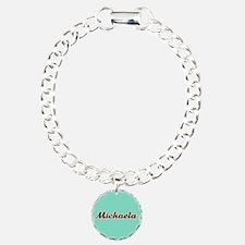 Michaela Aqua Bracelet